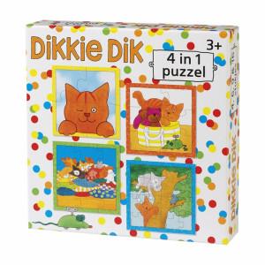 Dikkie Dik vier in 1 puzzel