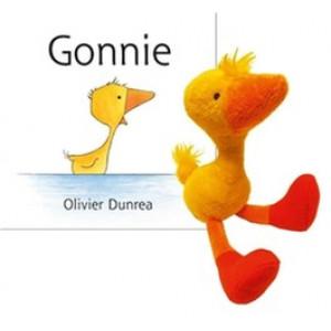 Gonnie is een gansje, met knuffeltje
