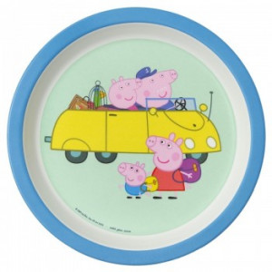 Peppa Pig ontbijtbord auto