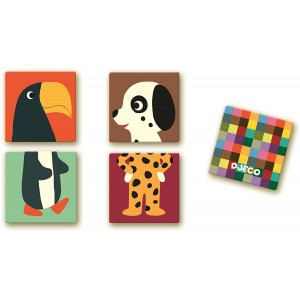 Djeco, Memo puzzel dieren