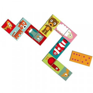 Djeco, Domino puzzel dieren